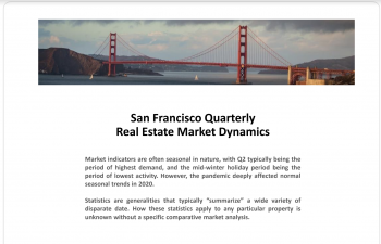 Part 1: San Francisco Real Estate Market Quarterly Dynamics through Q4 2020