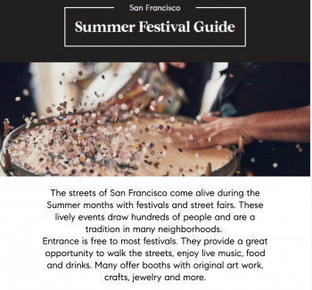 San Francisco Summer Festival Guide