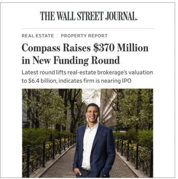 Compass valuation is $6.4 Billion!